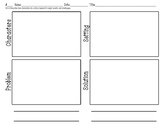 Problem Solution Character Setting Graphic Organizer