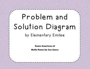 Problem Solution Diagram Graphic Organizer