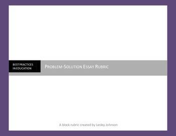 Problem-Solution Essay Rubric
