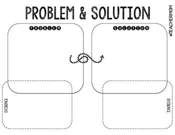 Problem & Solution + Evidence Graphic Organizer