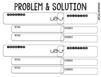 Problem & Solution + Evidence Graphic Organizer