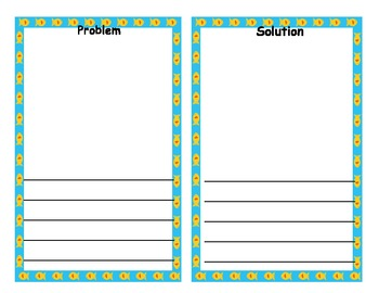 Problem Solution Fish Template