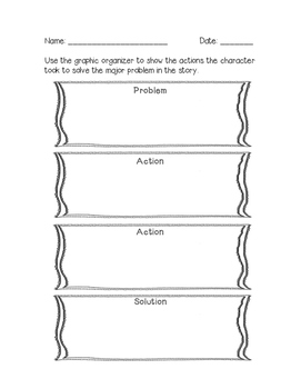 graphic relating to Problem Solution Graphic Organizer Printable identified as Situation Tactic Impression Organizer