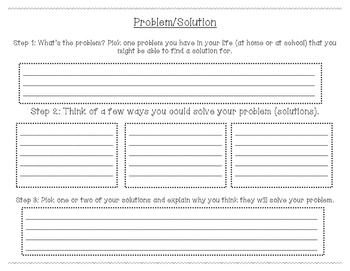 Problem/Solution Graphic Organizer