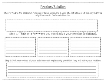 Problem/Solution Graphic Organizer