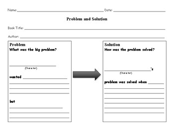 Problem Solution Graphic Organizer