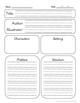 Problem & Solution Graphic Organizer - Differentiated