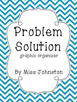 Problem Solution Graphic Organizer {Freebie}
