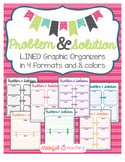 Problem & Solution Graphic Organizers {LINED}