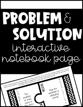 Problem & Solution Interactive Notebook Page