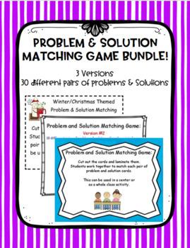 Problem & Solution Matching Game -Bundle!