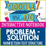 Problem-Solution Nonfiction Text Structure - Sketch Notes & Interactive Notebook