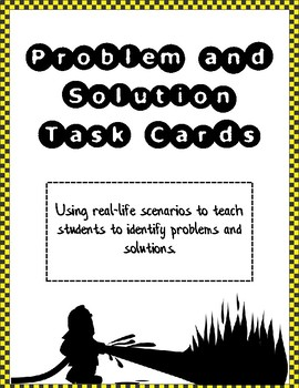 Problem Solution Task Cards - Real Life Edition