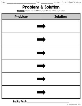 Problem solution text structure examples