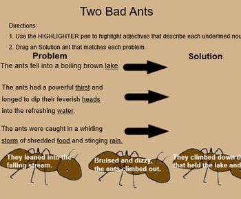 Problem/Solution and Adjectives SMART- Two Bad Ants