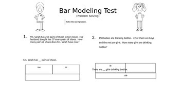 Problem Solve Assessment with Bar Modeling