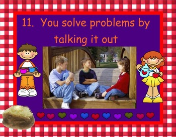 Problem Solve Hot Potato SMARTboard and PowerPoint School Counseling Lesson