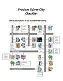 Problem Solver City-  Math Center Problem Solving