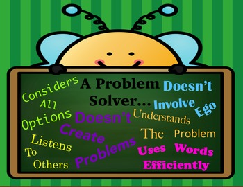Problem Solver Poster - Character Education