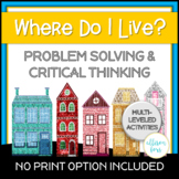 Problem Solving and Critical Thinking Speech Therapy   Digital and Print