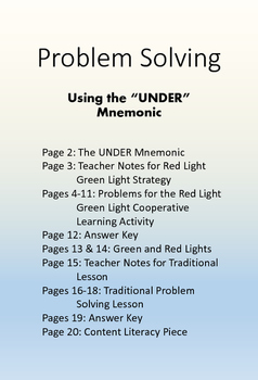 Problem Solving Strategy and Lesson