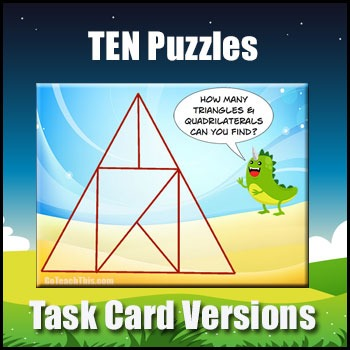 Problem Solving Puzzles - Collection of 10 Problem Solving Task Cards