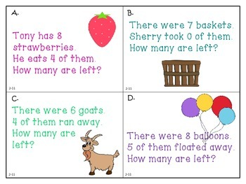 Problem Solving: Act it Out  - Subtraction - First Grade enVision Math