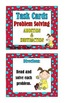 Problem Solving:  Addition and Subtraction Word Problems - Task Cards