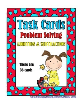 Problem Solving:  Addition and Subtraction Word Problems -