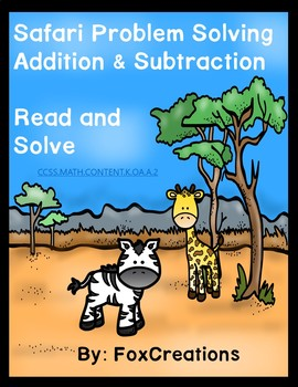 Problem Solving Addition and Subtraction up to 10 ~ Safari Center