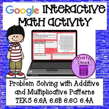 Problem Solving: Additive and Multiplicative Patterns TEKS 6.6A 6.6B 6.6C 6.4A