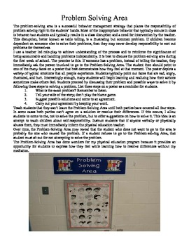 Problem Solving Area, Rules, Practices, and Procedures for PE