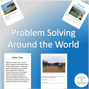 Problem Solving Around the World - Real Pictures - Inferencing, Memory & More