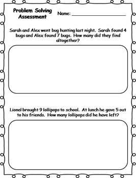 Problem Solving Assessment {FREEBIE}