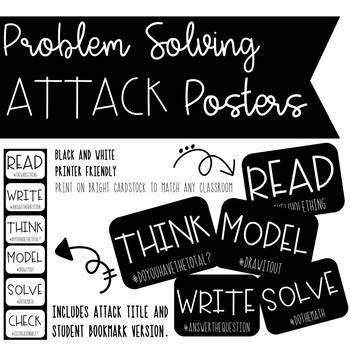 Problem Solving Attack Strategy Posters