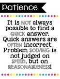 Problem Solving Attitudes Posters