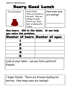 Problem Solving Bears