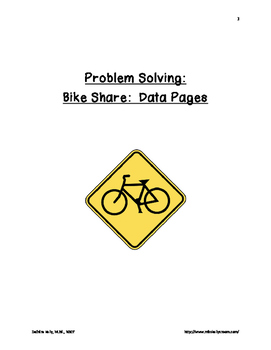 Problem Solving:  Bike Share Problem Packet