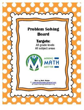Problem Solving Board