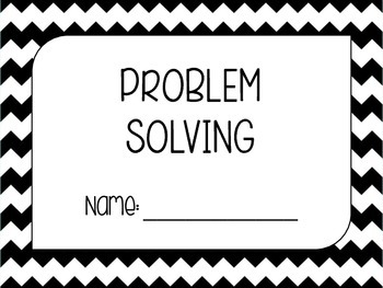 Problem Solving Booklet Cover