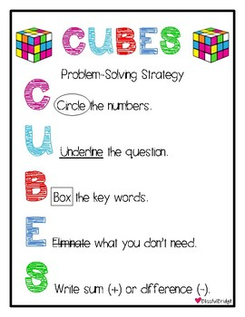 Problem Solving - CUBES (Primary)