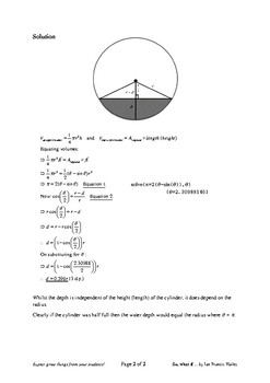 Problem Solving: Capsized Cylinder
