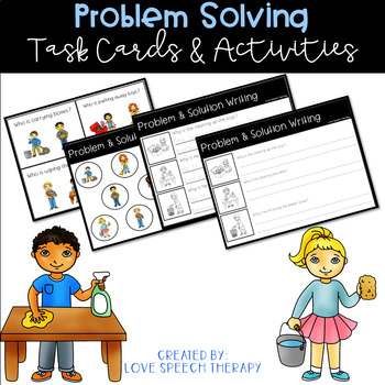 Problem Solving - Cleaning/Chores - Cards & Activities