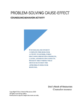 Problem-Solving Cause-Effect Counselor Activity