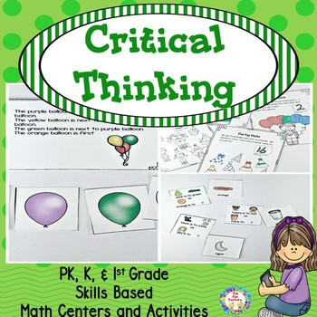 Problem Solving  ~ Center Activities and Worksheets