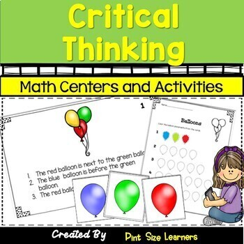 Problem Solving Center Activities and Worksheets