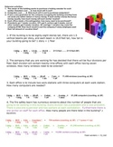 Problem Solving - Chemistry Dimensional Analysis Worksheet