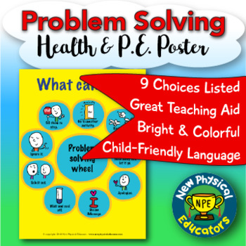 """Problem Solving Choices """"Touchable"""" Health and Physical Education Poster"""