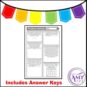 Problem Solving - Choose Your Own Strategy- PowerPoint, Task Cards and Worksheet