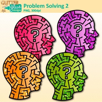 Problem Solving Clip Art {Critical Thinking Skills and Growth Mindset Use} 2